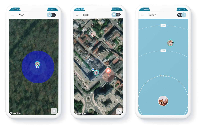 écran application - Carte